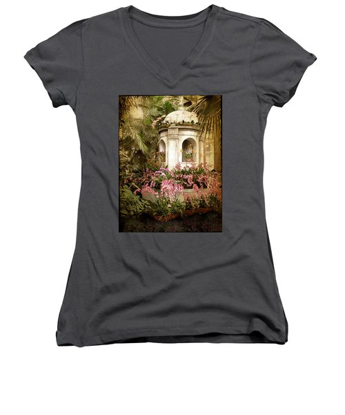 Orchid Exhibition Women's V-Neck