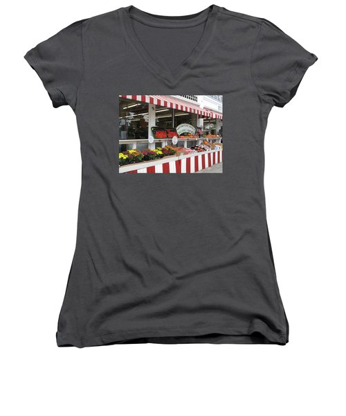 Women's V-Neck T-Shirt (Junior Cut) featuring the photograph Organic And Natural by Barbara McDevitt