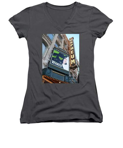 Orpheum Sign Women's V-Neck (Athletic Fit)