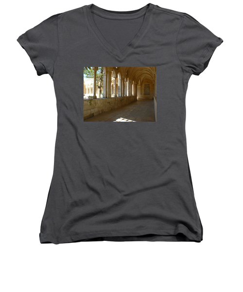 Our Father Of The World Women's V-Neck (Athletic Fit)