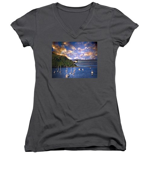 Out To Sea Women's V-Neck (Athletic Fit)
