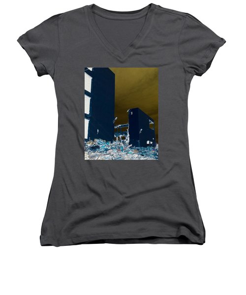 Out With The Old Women's V-Neck T-Shirt (Junior Cut) by J Anthony