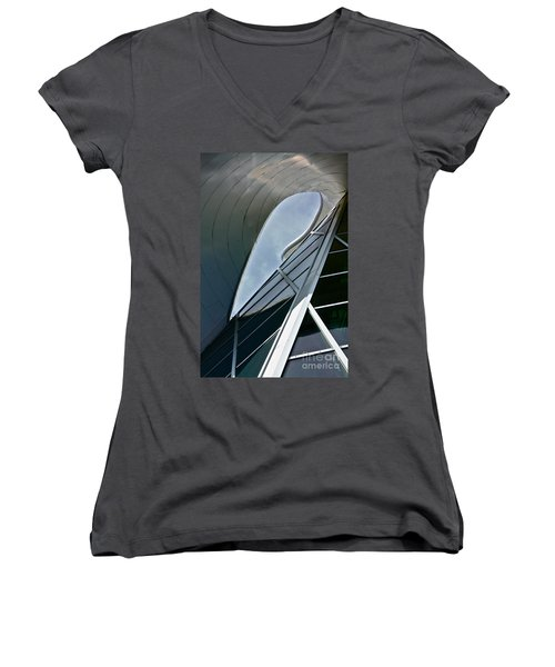 Outer Space Women's V-Neck T-Shirt (Junior Cut) by Linda Bianic