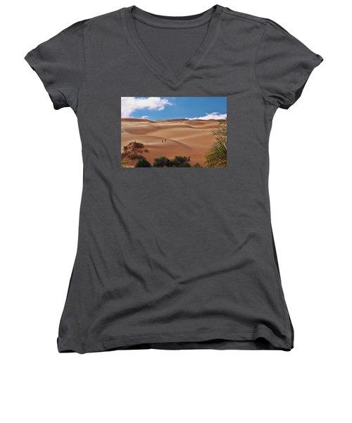 Over The Dunes Women's V-Neck