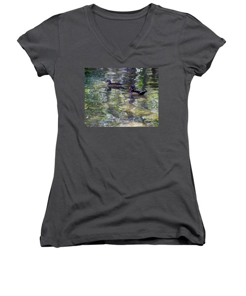 Paddling In A Monet Women's V-Neck (Athletic Fit)