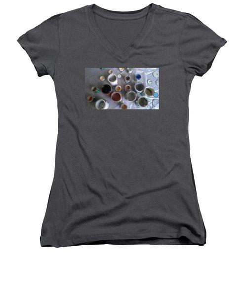 Paint Women's V-Neck T-Shirt