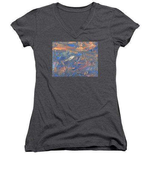 Paint Number 58c Women's V-Neck