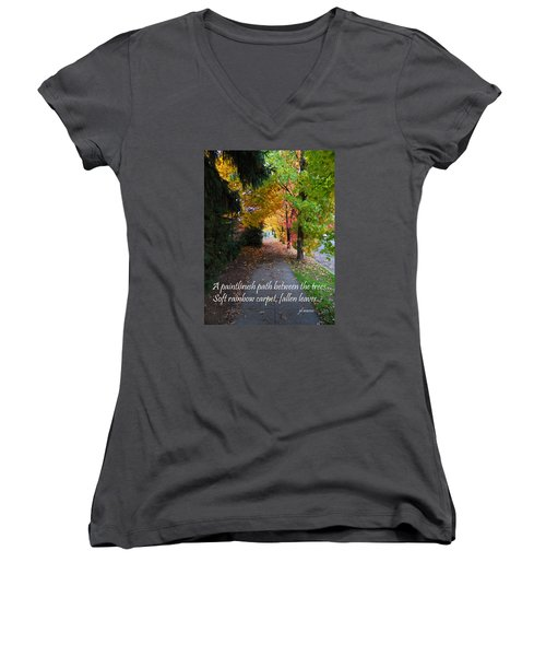 Paintbrush Path Women's V-Neck T-Shirt