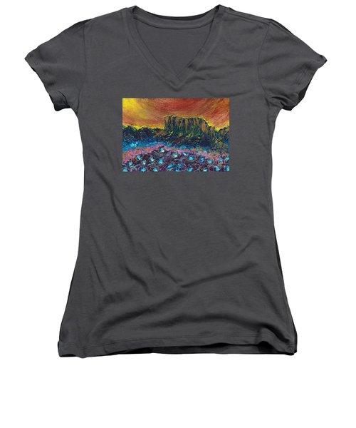 Painted Desert Women's V-Neck