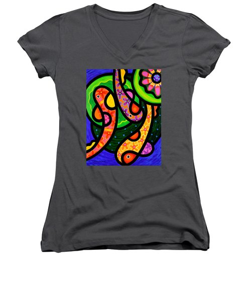 Paisley Pond - Vertical Women's V-Neck T-Shirt