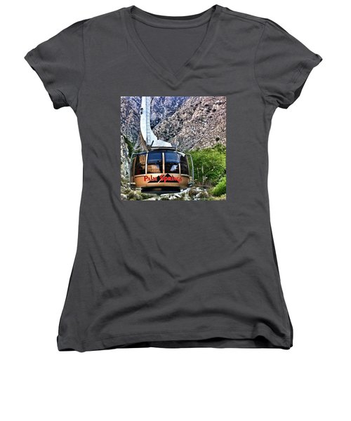 Palm Springs Tram 2 Women's V-Neck T-Shirt