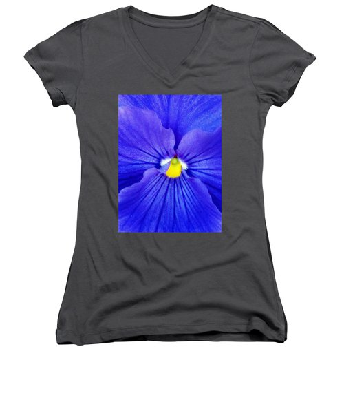 Pansy Flower 37 Women's V-Neck T-Shirt