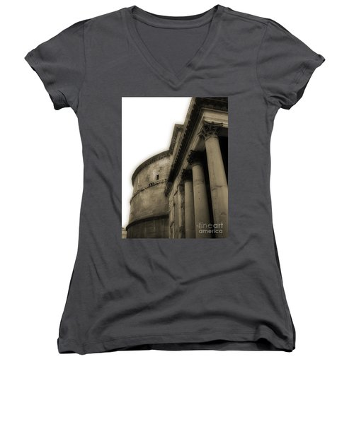 Pantheon Women's V-Neck T-Shirt (Junior Cut) by Angela DeFrias