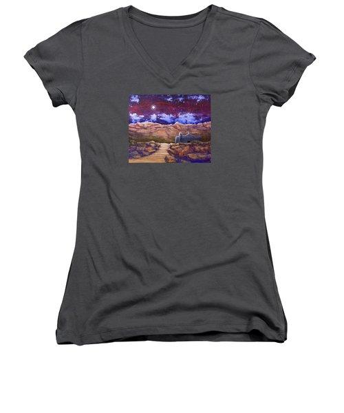 Paper Moon Women's V-Neck T-Shirt (Junior Cut) by Jack Malloch