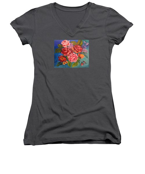 Parade Of Roses 11 Women's V-Neck (Athletic Fit)