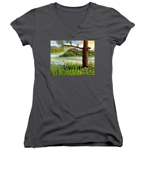 Paradise  Women's V-Neck T-Shirt