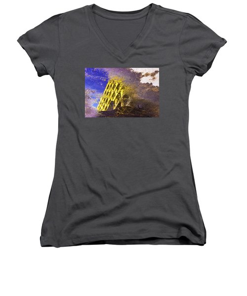 Parallel Universe Women's V-Neck T-Shirt (Junior Cut) by Prakash Ghai