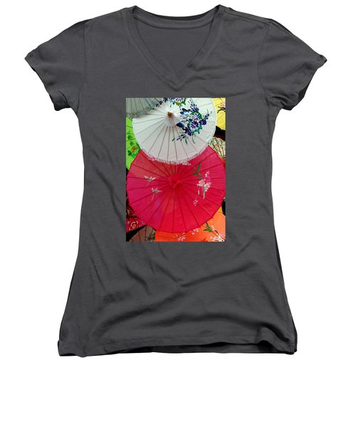 Parasols 1 Women's V-Neck (Athletic Fit)