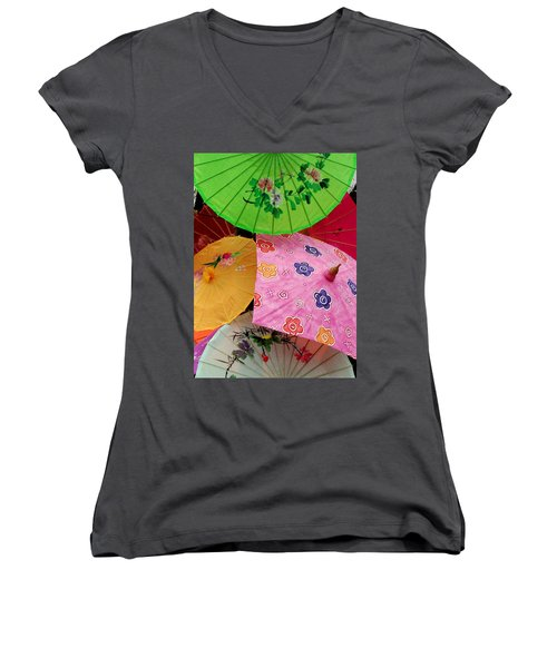 Parasols 2 Women's V-Neck
