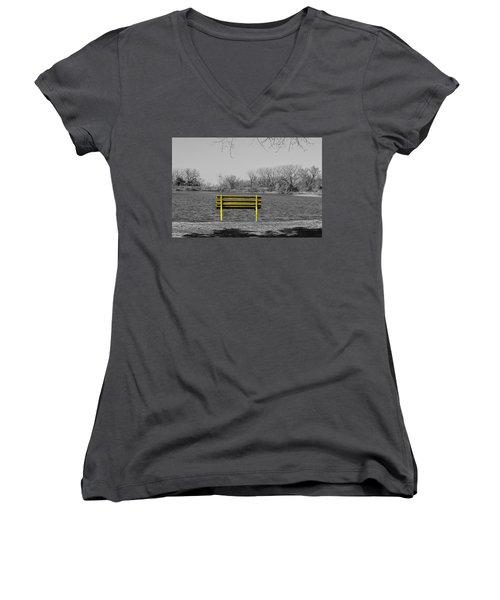 Park Bench Women's V-Neck T-Shirt