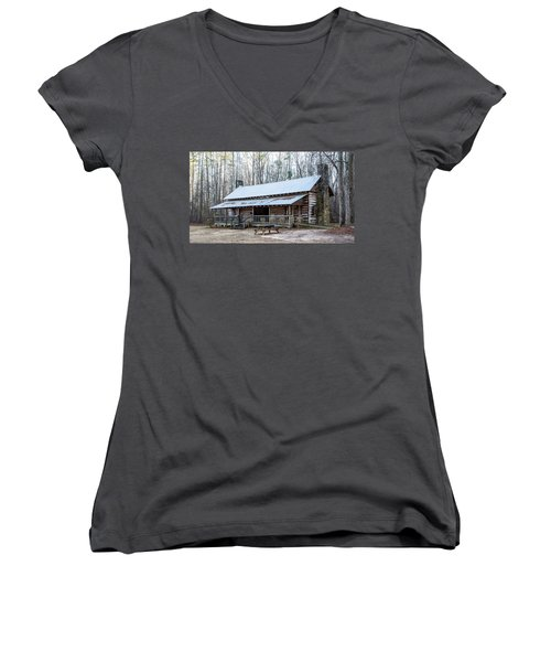Park Ranger Cabin Women's V-Neck (Athletic Fit)