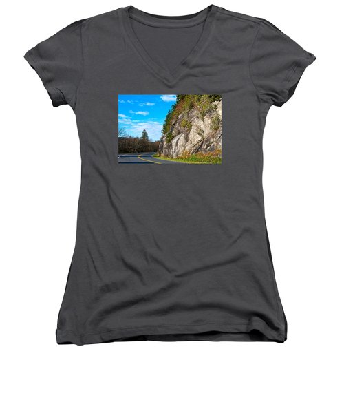 Park Road Women's V-Neck T-Shirt (Junior Cut) by Melinda Fawver
