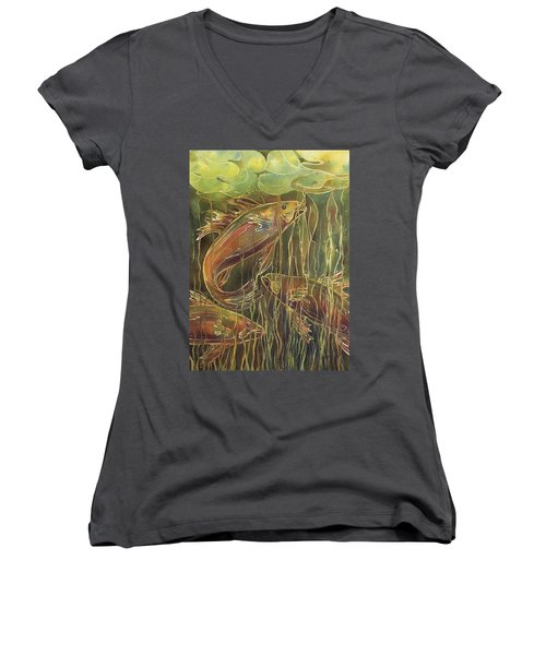 Party Under The Lily Pads II Women's V-Neck