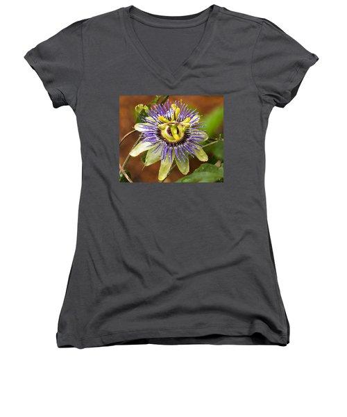 Passion Flower Women's V-Neck