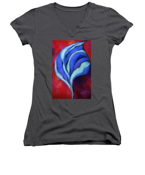 Passion Women's V-Neck T-Shirt (Junior Cut) by Susan Will