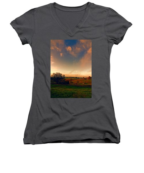 Pastureland Women's V-Neck T-Shirt
