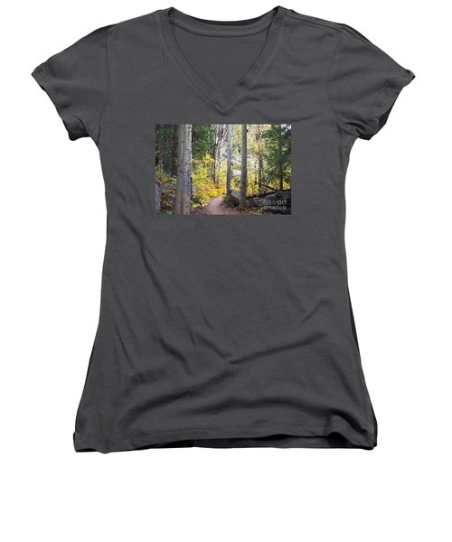 Path Of Peace Women's V-Neck T-Shirt (Junior Cut) by Margie Chapman