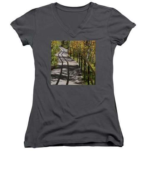 Path Shadow Women's V-Neck (Athletic Fit)