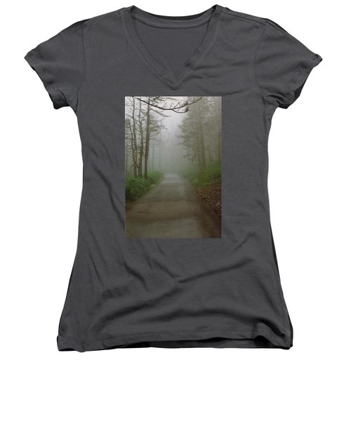 Path To Clingmans Dome Women's V-Neck