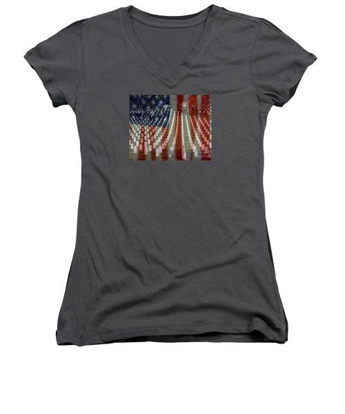 Patriotism Women's V-Neck T-Shirt