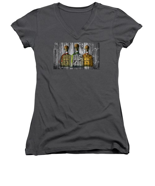 Women's V-Neck featuring the photograph Patron Barn Door by Dan Sproul