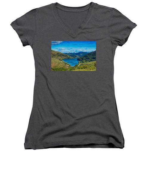Patterson Lake In The Summer Women's V-Neck