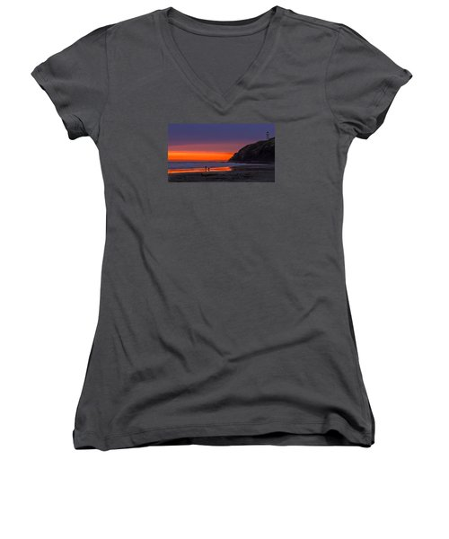 Peaceful Evening Women's V-Neck (Athletic Fit)