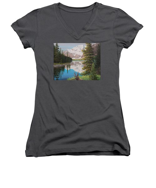 Peaceful Waters Women's V-Neck (Athletic Fit)