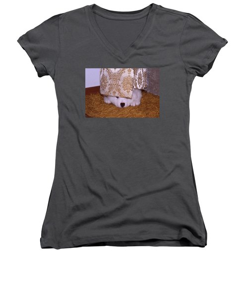 Peek-a-boo Women's V-Neck (Athletic Fit)