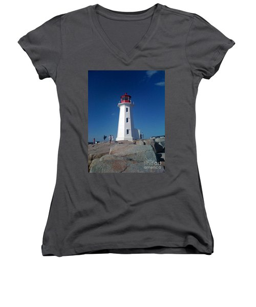 Peggy's Cove Lighthouse Women's V-Neck T-Shirt