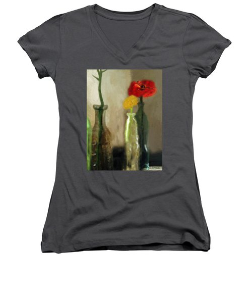 Peggy's Flowers Women's V-Neck