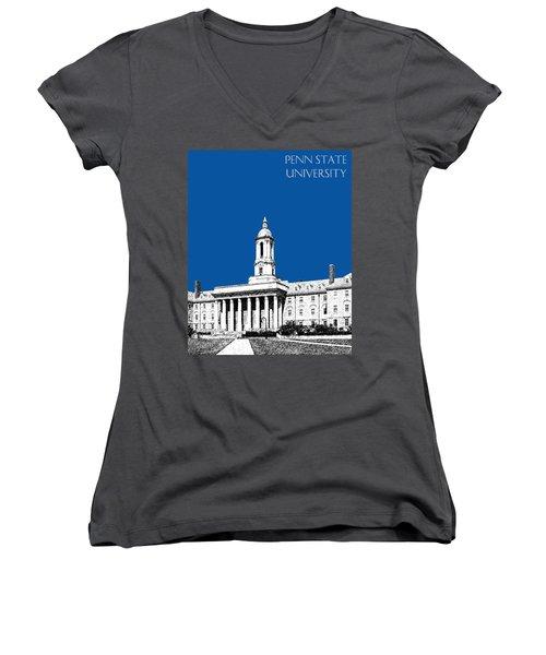 Penn State University - Royal Blue Women's V-Neck T-Shirt