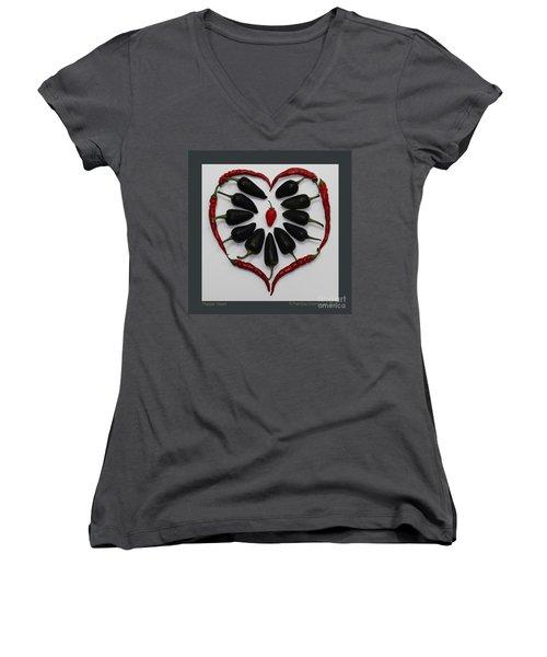 Pepper Heart Women's V-Neck T-Shirt