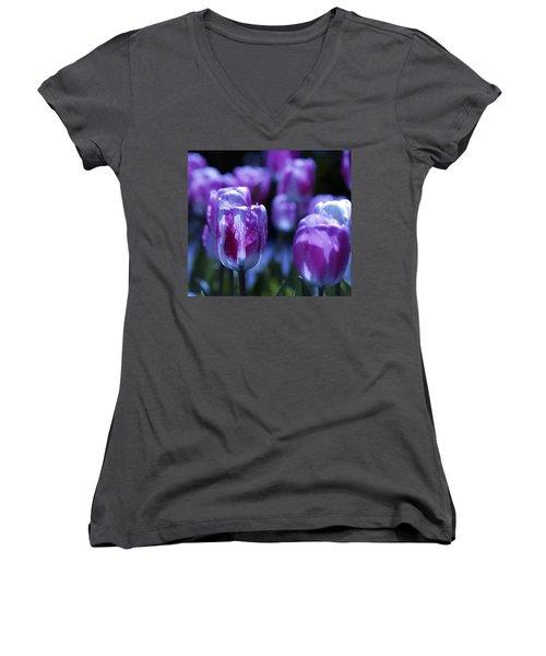 Peppermint Candies Women's V-Neck T-Shirt (Junior Cut) by Joe Schofield