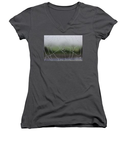 Women's V-Neck T-Shirt (Junior Cut) featuring the photograph Perfect Circles by Vicki Spindler
