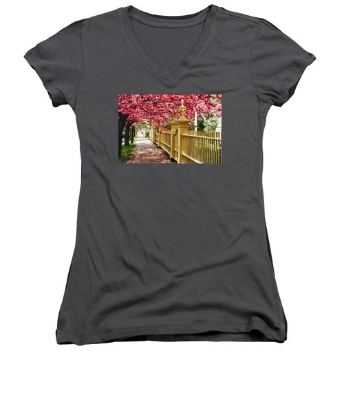 Perfect Time For A Spring Walk Women's V-Neck