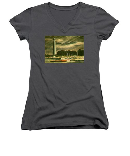Perrys Monument On Put In Bay Women's V-Neck