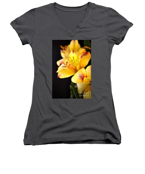 Peruvian Lily Women's V-Neck T-Shirt