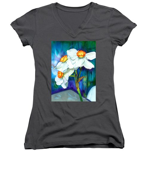 Petal Portrait Women's V-Neck T-Shirt
