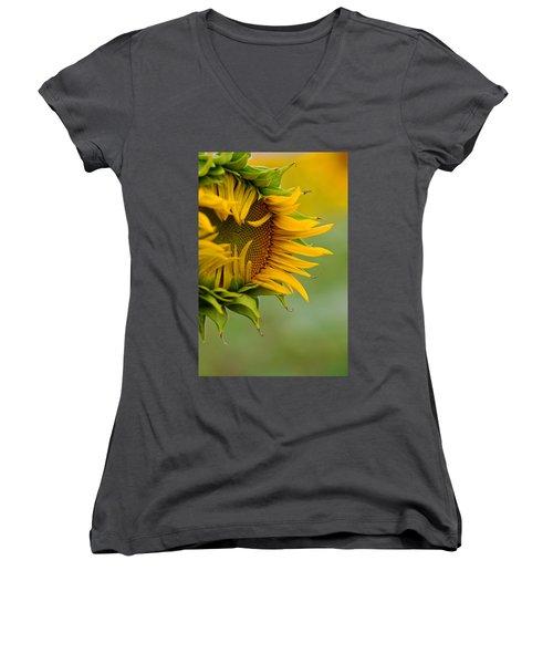 Women's V-Neck T-Shirt (Junior Cut) featuring the photograph Petals by Ronda Kimbrow